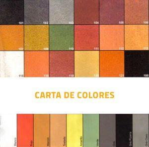 Mayrata pavimentos de exterior en Mallorca - Carta de colores